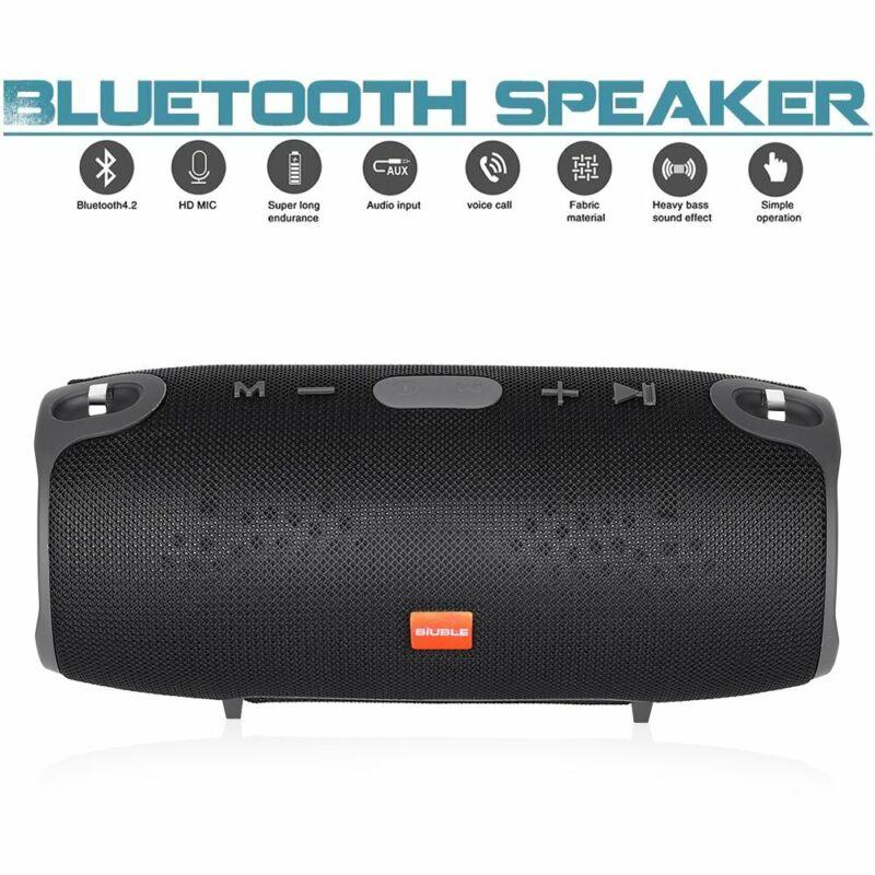 40W Tragbarer Wireless Bluetooth Lautsprecher Stereo Subwoofer Musikbox AUX MP3