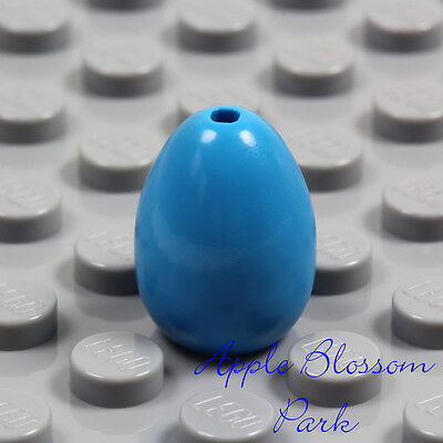 NEW Lego Minifig Dark AZURE EASTER EGG - Angry Birds Chicken Blue Kitchen Food