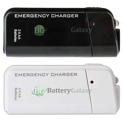 USB Emergency 2AA Battery Power Charger for Android Cell Phone iPhone (Emergency Usb)
