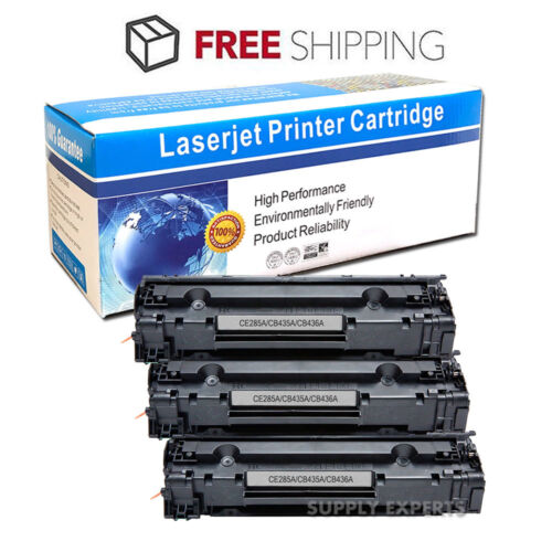 4 Pack New Black Toner Cartridges for HP CB436A CB436 36A CB435A CE285A Printer
