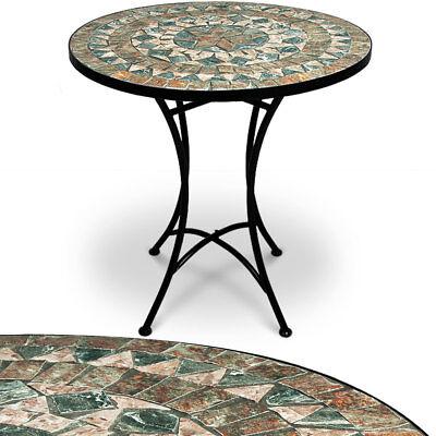 Mosaiktisch Gartentisch Bistrotisch Mosaik Beistelltisch Tisch Malaga Ø60cm