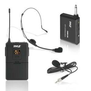 PYLE PDWM12UH Wireless Microphone System, Beltpack Transmitter w/ Headset & Lavalier Mics