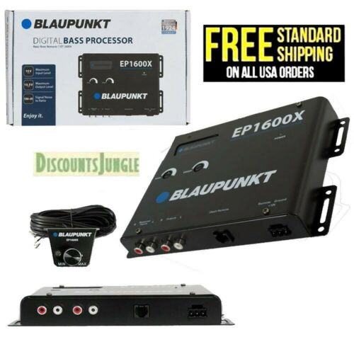 BLAUPUNKT EP1600X CAR AUDIO DIGITAL BASS RECONSTRUCTION PROCESSOR w/ REMOTE