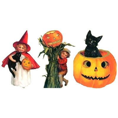 Halloween Inspired Party Decorations Featuring Children, Cats & Pumpkins #Shk-12 (Kids Halloween Decorations)