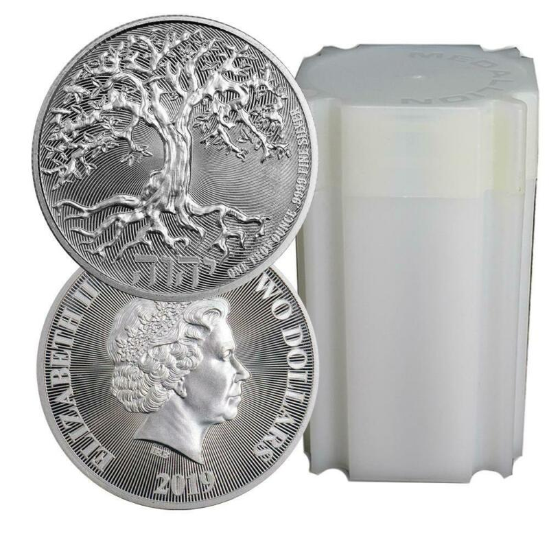 Roll of 20 2019 Tree of Life Silver Coins