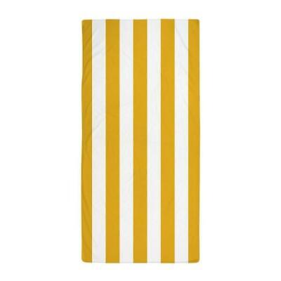 Verano Collection Chaise Lounge Towel Striped Yellow/white Collection Chaise Lounge