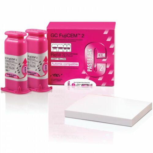 FujiCEM 2 Paste Pak Refill - Automix Compatible - Light Yellow by GC FRESH !!!