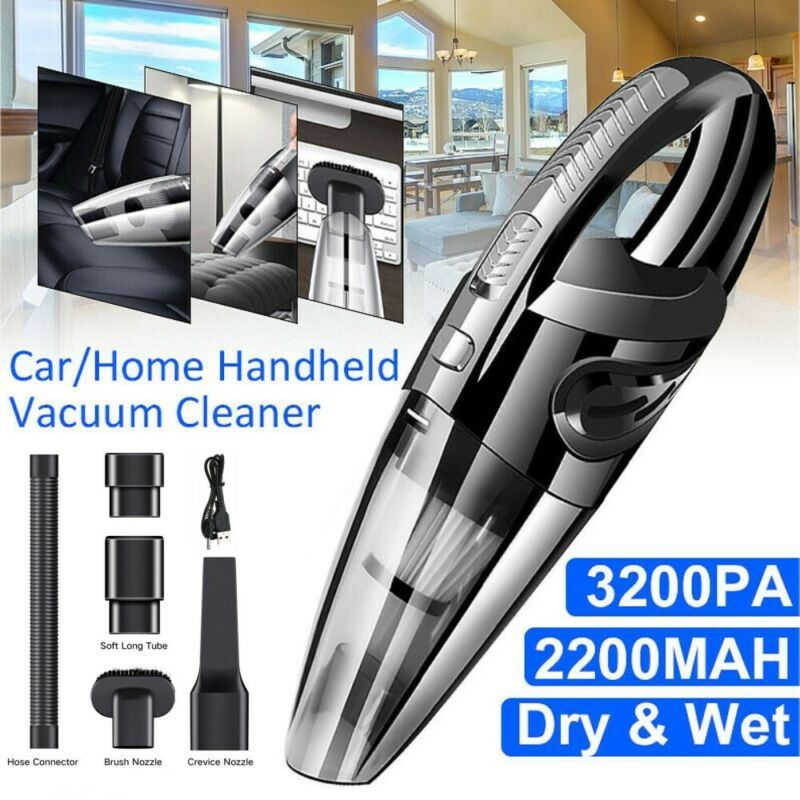NEW 120W Cordless Handheld Vacuum Cleaner Rechargeable Car A