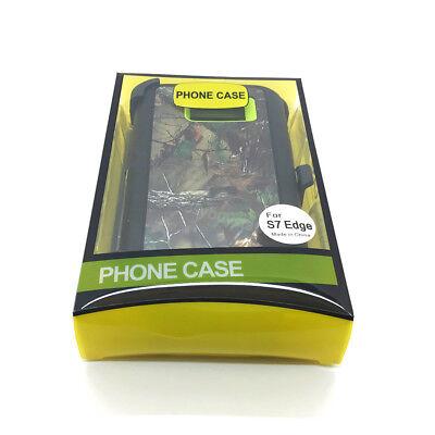 For Samsung Galaxy S7 Edge Camo GREEN case cover (Clip Fits OtterBox