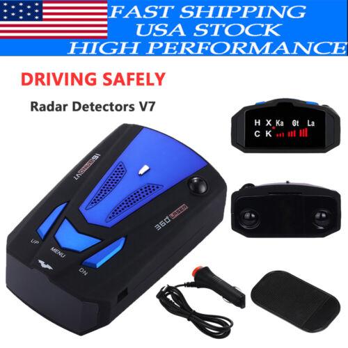16 Band Car Gps Camera Laser Speed Radar Detector Police Safe Alert V7 360° Usa