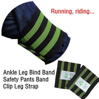 2 PCS Bike Bicycle Reflective Ankle Leg Wrist Safety Band Pants Clip SBR Wrap