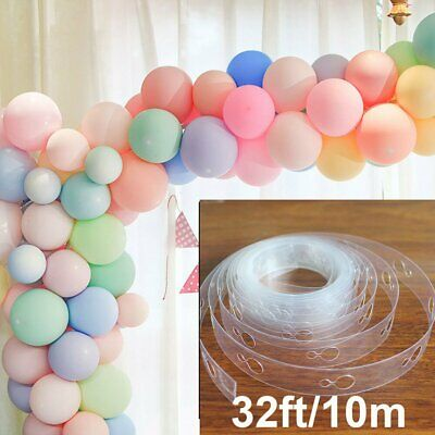 32ft Balloon Chain Tape Arch Connect Strip for Birthday Party Wedding Decor Tool