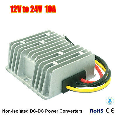 New Waterproof Dcdc Converter Regulator 12v Step Up To 24v 10a 240w Us Seller