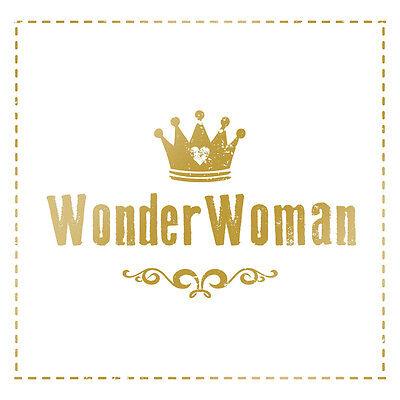 ppd*20 Servietten*Serviettentechnik*Spruch*Wonder Woman* Krone* ()