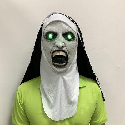Halloween Horror Masks Scary (Halloween The Nun Horror Mask Cosplay Valak Scary Latex Masks with)