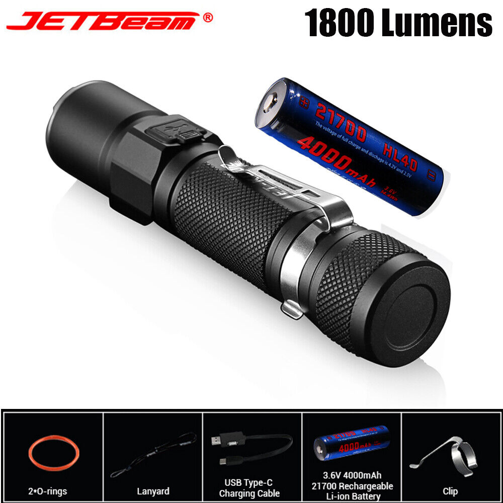 JETBeam 1800 Lumen Tactical Flashlight