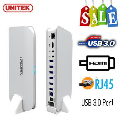 UNITEK 6 USB 3.0 Docking Station Hub + 1080P HDMI + LAN RJ45 Ethernet Adapter