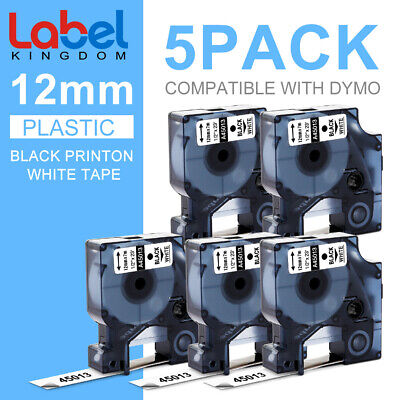 3PK Black on Clear Refill Tape LT 16952 for DYMO LetraTag/&QX50 Label Makers 1//2/""