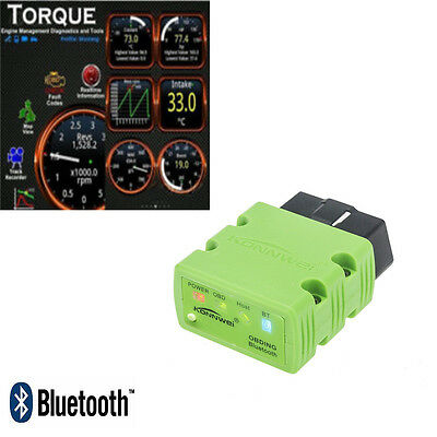 Bluetooth OBD2 OBDII Auto Car Diagnostic Scanner Tool Code Reader For Android PC