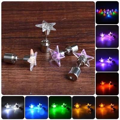 Stylish LED Star Earrings Light Up Ear Studs For Club KTV Dance Party - Light Up Earrings