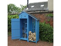 Wooden Garden Shed with Log Store SALE PRICE, NEW + FREE Local Delivery