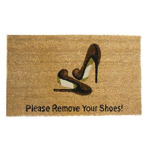 039 please remove your shoes 039 coir outdoor door mat ebay - Remove shoes doormat ...