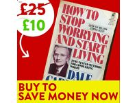 How to Stop Worrying & How to Start Living - FREE DELIVERY - Success Book - Save £15 WHEN YOU BUY