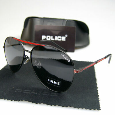 New Men Polarized Sunglasses Aviator Driving Eyewear Metal Frame Police (Police Glasses Men)