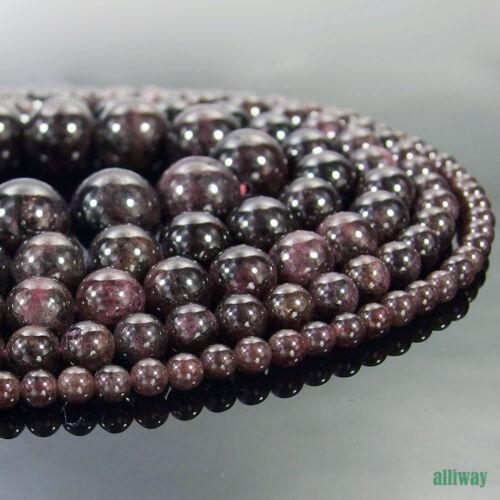 Natural Garnet Gemstone Round Beads 15.5