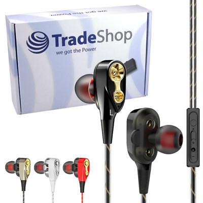 Kopfhörer Headset mit Mikrofon und Lautstärkeregler Ohrhörer In-Ear 1,2 m Kabel (2m Ohrhörer)