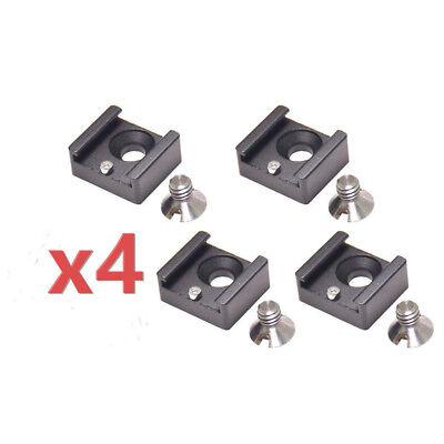 """[Pack de 4]Adaptateur Vis + Clé 1/4"""" 20 Griffe Froide Solide pour Rig Cage Micro"""
