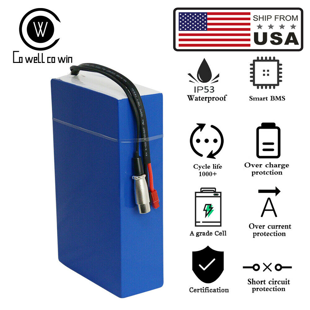 EBike Li-ion Battery 36V15AH 500W Scooter Electric Bicycle Motor BMS Charger US