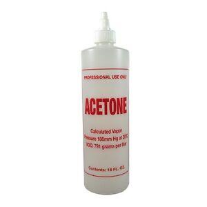 B68 Empty 16oz Imprinted Acetone Twist Top Bottle