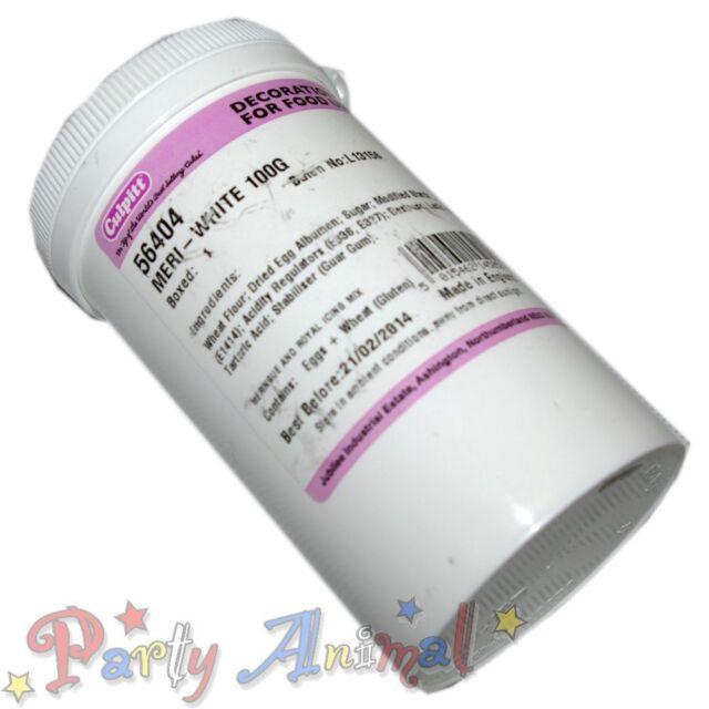 Culpitt MERI-WHITE 100g  Powdered Egg White Substitute Meringue Powder- Cake Dec