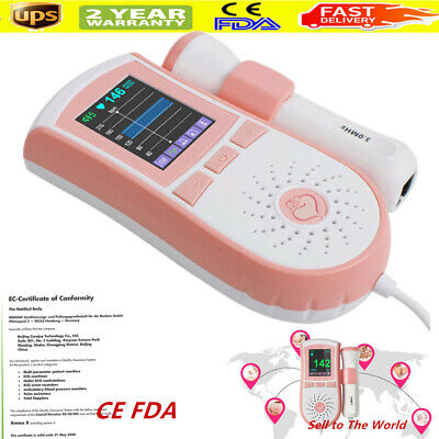 Pocket Prenatal Fetal Doppler Baby Heart Beat Monitor Pregnancy 3mhz Gel Fda
