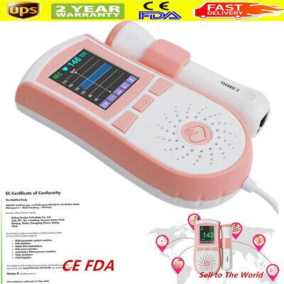 New Pocket Prenatal Fetal Doppler Baby Heart Beat Monitor Pregnancy 3mhz Gel
