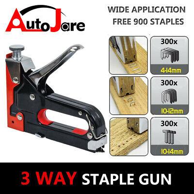 - Heavy Duty Manual Nail Staple Gun Kit Upholstery Tool for Wood Work Stapler