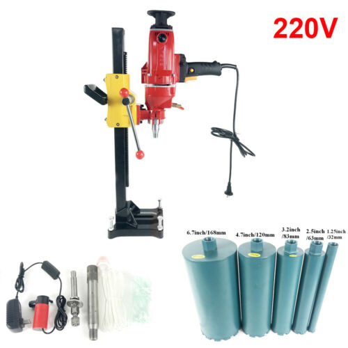 Vertical Diamond Drilling Machine Reinforced Concrete Wall Water Drill Press220V
