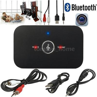 3.5mm Bluetooth Receiver + Transmitter Adapter A2DP Audio Player For MP3/4 TV PC