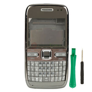 New Full Housing Case Keypad Cover for Nokia E72 sliver