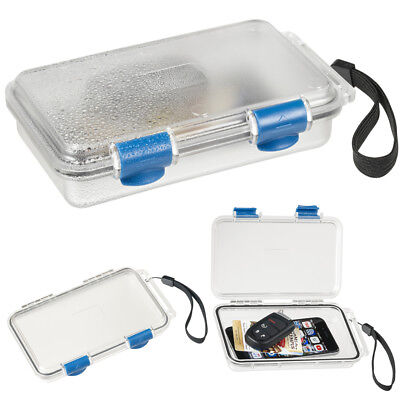 Waterproof Container Hard Case Phone Storage Dry Box Clear S