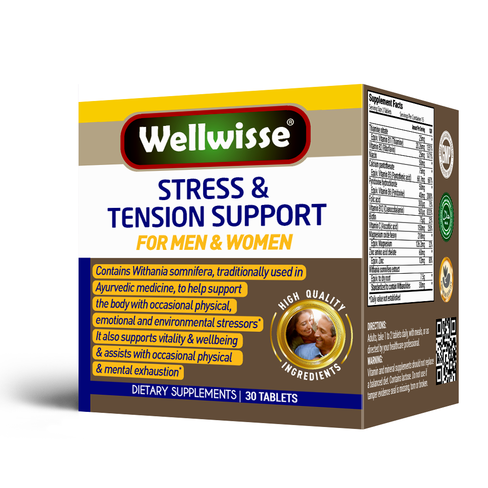 Wellwisse Stress & Tension Support - 30 tablets