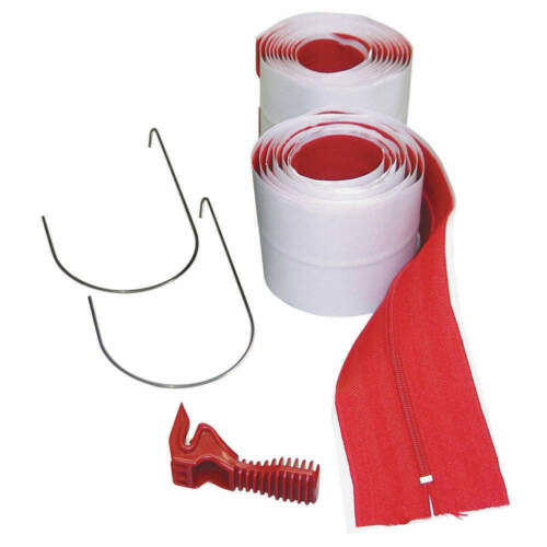 NEW!!  ZIP WALL HDAZ2 3 in. x 84 in. Heavy-Duty Adhesive Zippers Includes Knife