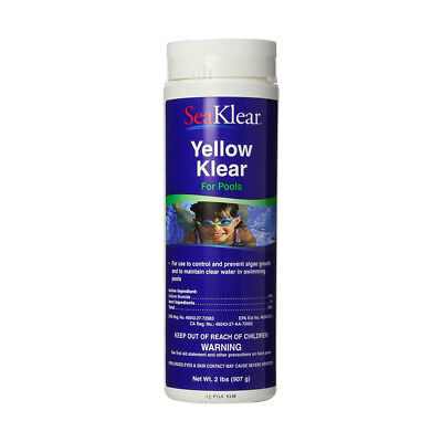 Sea Klear Pool (SeaKlear Yellow Klear Removes Yellow & Green Algae for Pools and Spas 2 lb )