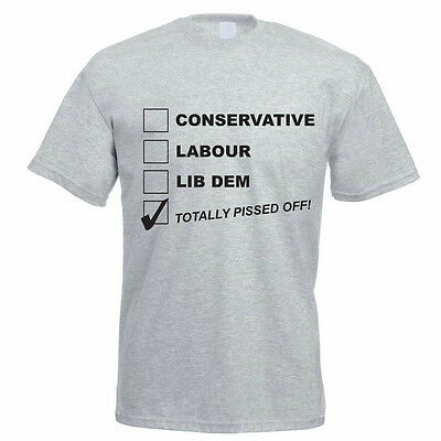CONSERVATIVE / LABOUR / LIB DEM - Political Party / Funny Themed Men's - Political Party Themes