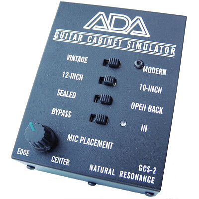 ADA GCS-2 Guitar Cabinet Simulator & DI Box with Microphone Placement Control for sale  Shipping to India