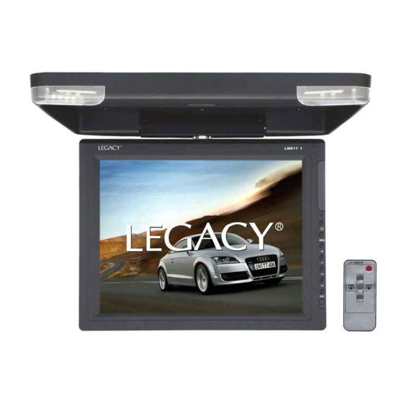 Legacy LMR17.1 15.1 Inch TFT Car/Truck Flip Down Roof Mount Video Monitor w/ IR
