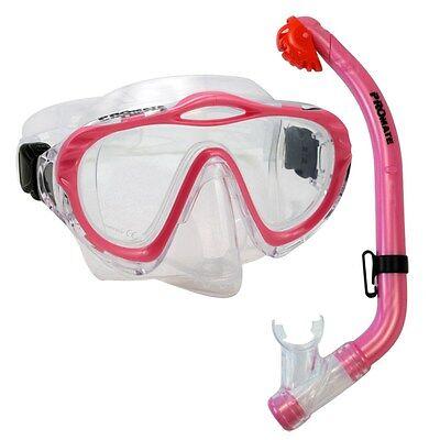 NEW Kid's Children Junior Silicone Purge Mask Dry Snorkel Scuba Diving Boy Girl - Purge Girls