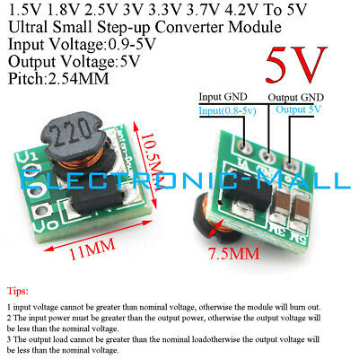 Dcdc 1.5v 1.8v 2.5v 3v 3.3v 3.7v 4.2v To 5v Step-up Voltage Converter Module Diy