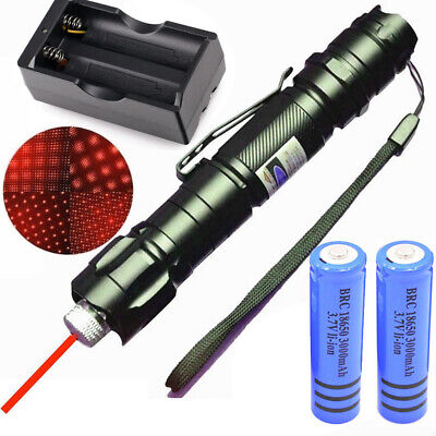 600miles 650nm 009 Star Red Laser Pointer Pen Rechargeable Lazer218650charger